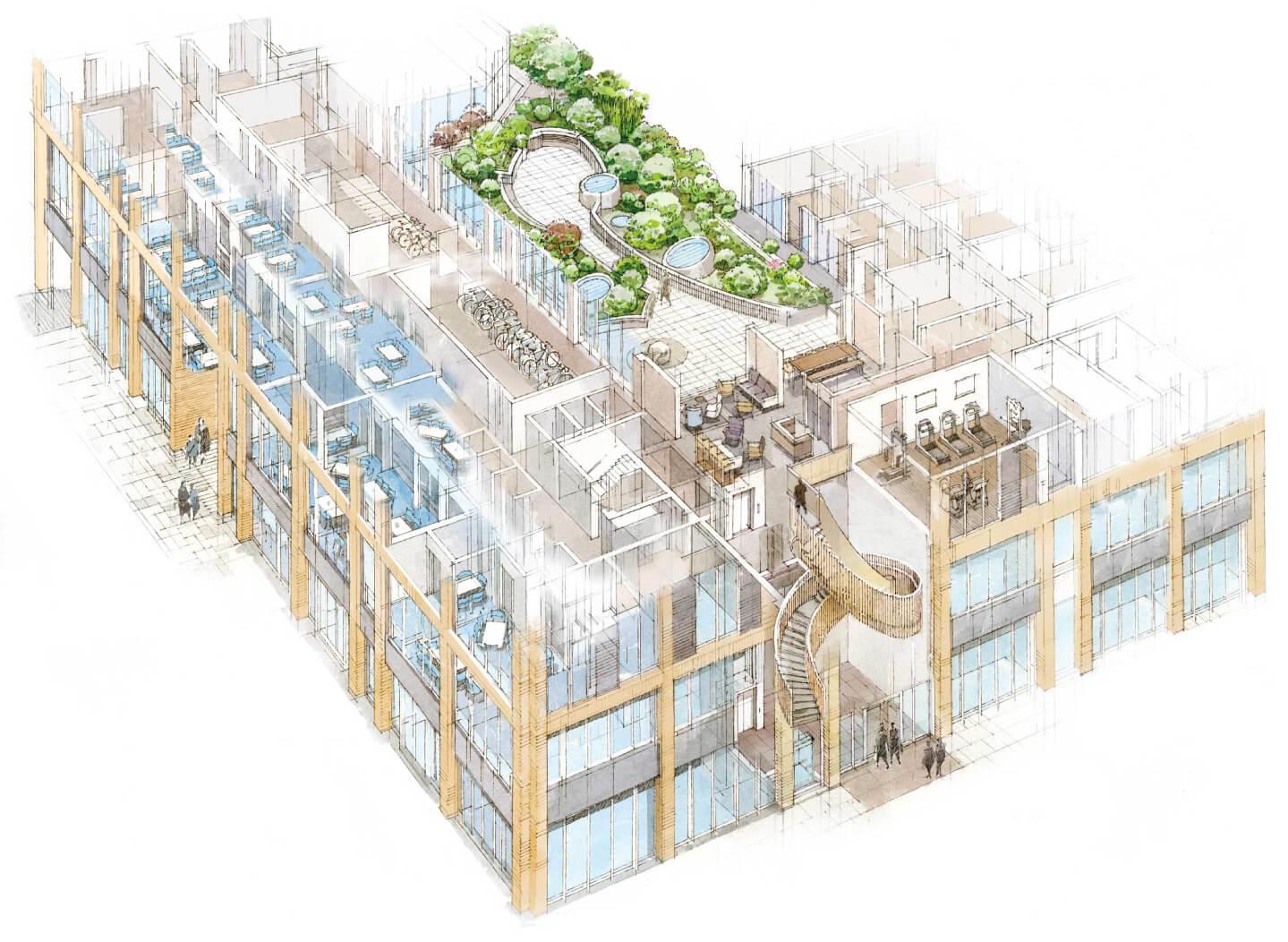 Illustration of amenities at Plimsoll Kings Cross Apartments